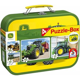 Schmidt John Deere, Puzzle-Box, 2x60, 2x100 stukjes