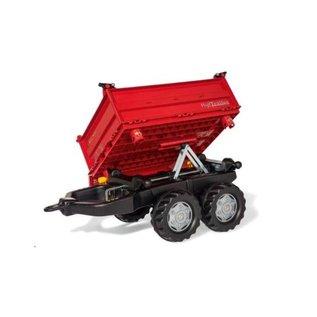 Rolly Toys RT123018 - Mega Trailer Rood met grijze velgen