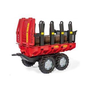 Rolly Toys RT123254 - Timber Trailer Rood met zwart