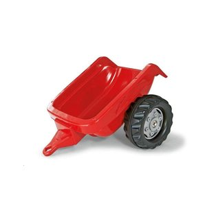 Rolly Toys RT121717 - Rollykid aanhanger rood met grijze velgen