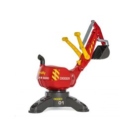 Rolly Toys RT422036 - Rolly Digger rood met steunpoot