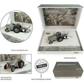Rumptstad landbouwmachines Universal Hobbies Limited Edition - Ferguson TE 20 met Sirocco Cab, Rumpstad eenschaar-kantelploeg 1:32