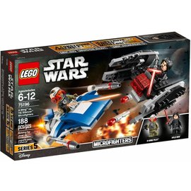LEGO® A Wing vs TIE Silencer microfighters