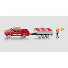 Siku SK3543 - 1:55 Pick-Up met aanhanger en afzetblokken