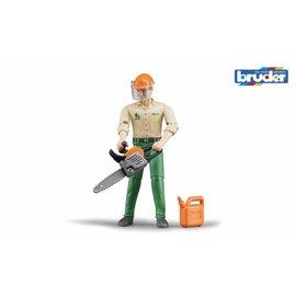 Bruder BF60030 - Bosbouwarbeider met accessoires