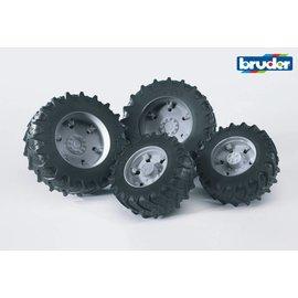 Bruder BF3315 - Dubbellucht wielenset grijs
