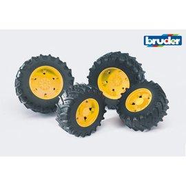 Bruder BF3314 - Dubbellucht wielenset geel