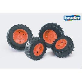 Bruder BF3312 - Dubbellucht wielenset oranje
