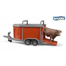 Bruder BF2029 - Veeaanhanger met koe