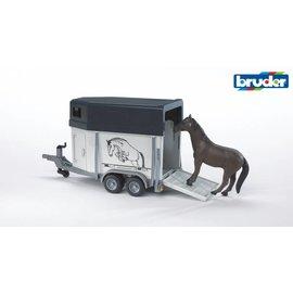 Bruder BF2028 - Paardentrailer met paard