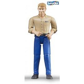 Bruder BF60006 - Man met blanke huidskleur - donkerblauwe jeans