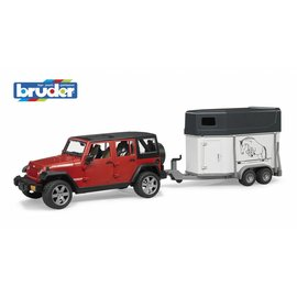 Bruder BF2926 - Jeep Wrangler Unlimited Rubicon met paardentrailer