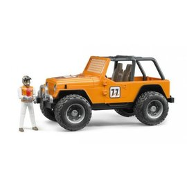 Bruder BF2542 - Jeep Cross Country Oranje met Rally-rijder