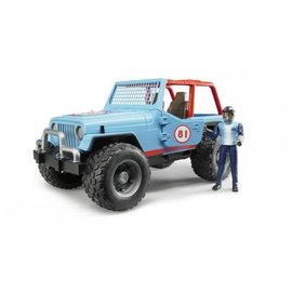 Bruder BF2541 - Jeep Cross Country Blauw met Rally-rijder