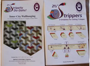 Marti Michell 2.5 inch Stripper Templates. Speciaal voor Jelly Rolls