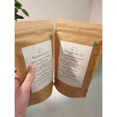 Natuurlijk Fit Acacia vezels , zak 200 gram, papier, biologisch afbreekbaar
