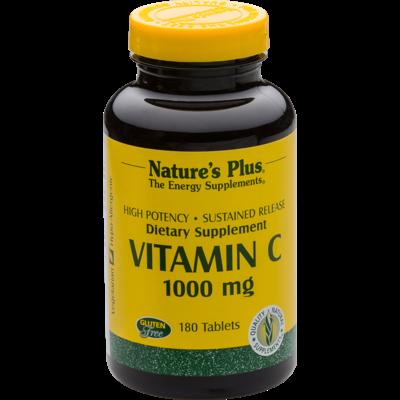 Natures Plus Vitamine C 1000 mg, 180 tablets