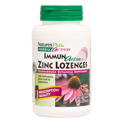 Natures Plus Immun actin Zink zuigtabletten