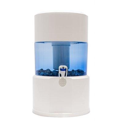 Aqualine 18 liter, kunstsdtof, alkalisch, redoxfilter  met mineraalstenen