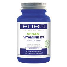Puro Vegan Vitamine D3 60 capsules