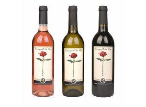 Wijn bij bloemen
