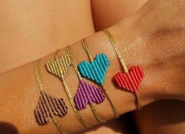 Macrame Hart Armband