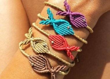 Macrame Vis armband