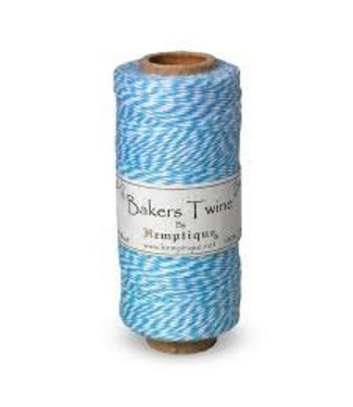 Hemptique Bakers Twine - helder blauw/wit