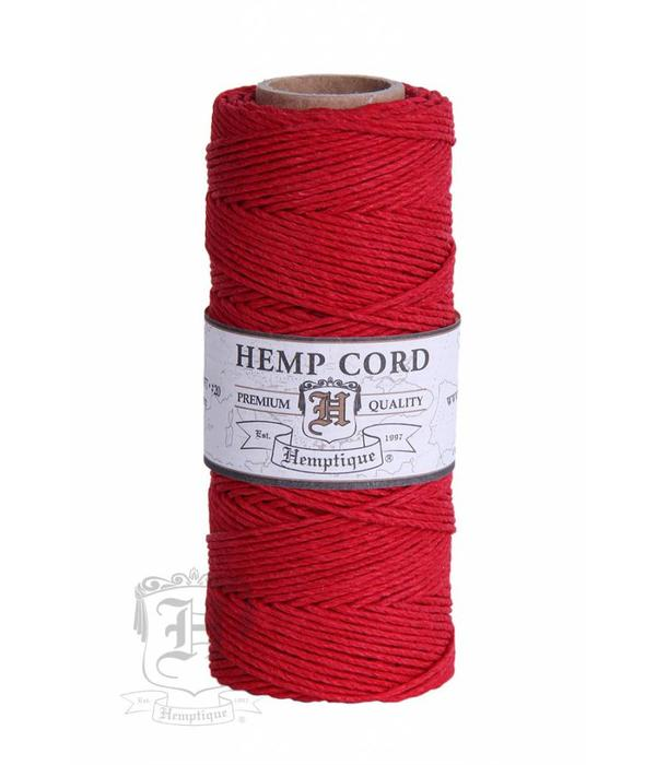 Hemptique Hennep Touw - Red  - #10