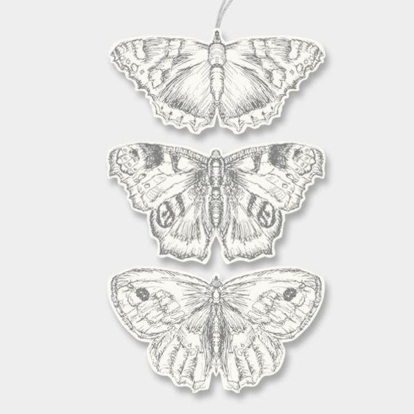 label vlinder- assorted