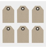 East of India Kraft kleurig Labeltjes