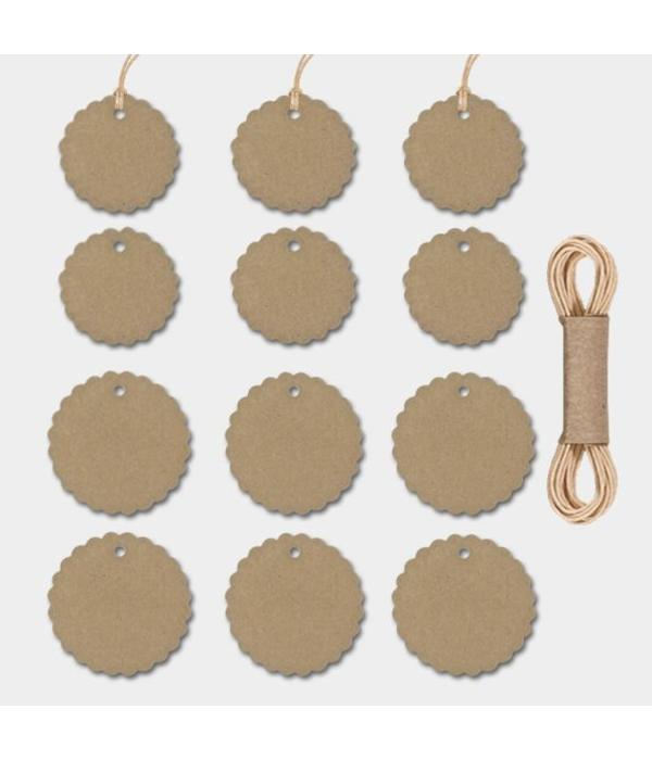 East of India Rond Labels - Kraft