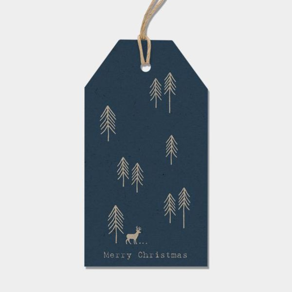 Labels - tree - Blue
