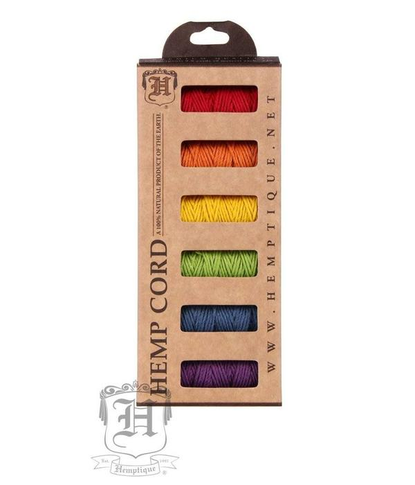 Hemptique Box -Hennep Touw - Rainbow Fields