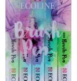 Ecoline Bruspen set - Pastel - 6 stuks