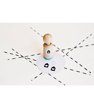 Miss Honeybird Ministempel - huisje