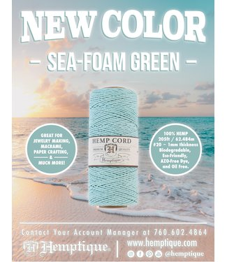 Hemptique Hennep Touw - Seafoam Green #20