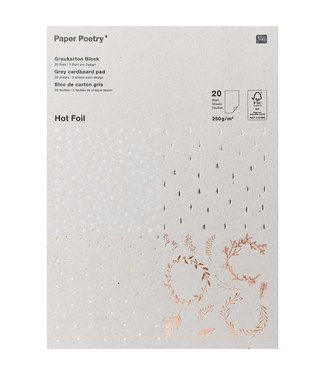 Papierblok - Grijs karton - XMAS - FSC - Mix