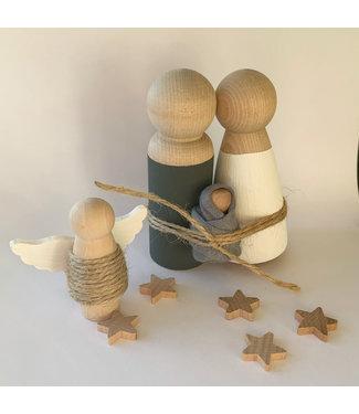 Bedijs Houten Kerststal