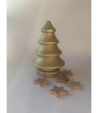 Bedijs Houten Kerstboom - goud