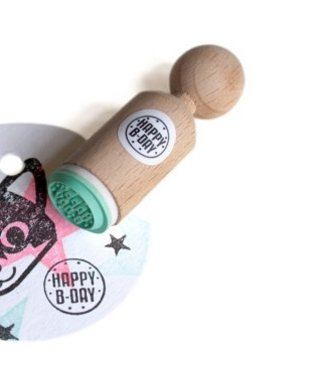 Miss Honeybird Ministempel  - Happy B-Day