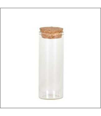 Glazen reageerbuis met kurk - 10X3