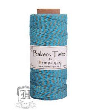 Hemptique Bakers Twine - Turquoise/Dusty Olive