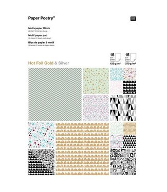 Papierblok - Grafisch Zilver & Goud