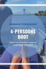 Boot huren voor 4 personen
