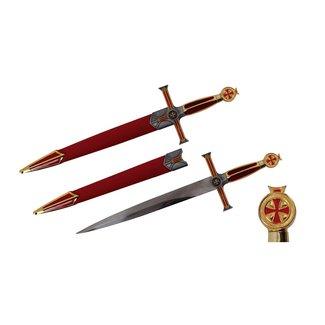 Middeleeuwse dolk (rood)