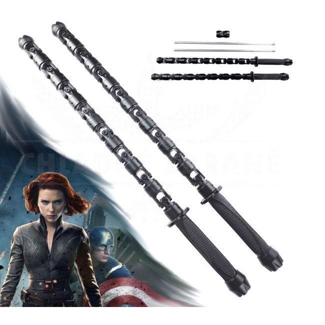 Black widow staff Avengers Lichtgevend Zwart
