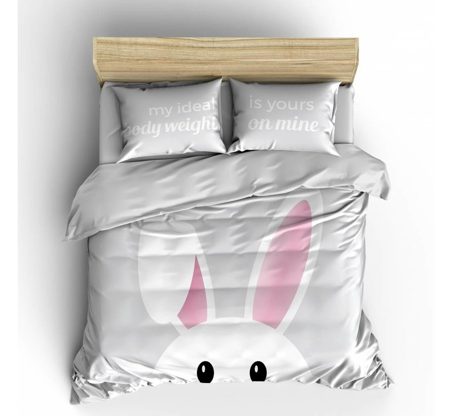 Dekbedovertrek Bunny Grijs