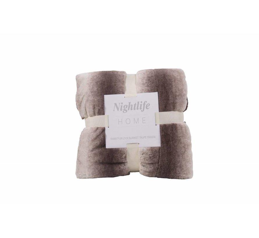 Woondeken Faux Fur Taupe 150x200