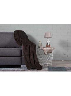 Nightlife Home Woondeken flanel rib bruin